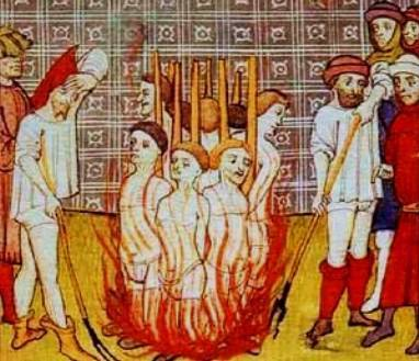 The burning of the knights Templar